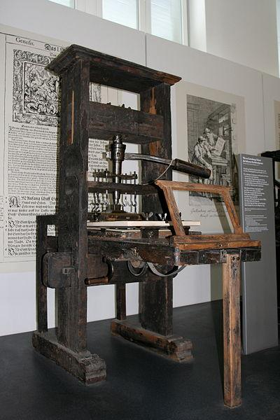 Invented printing press