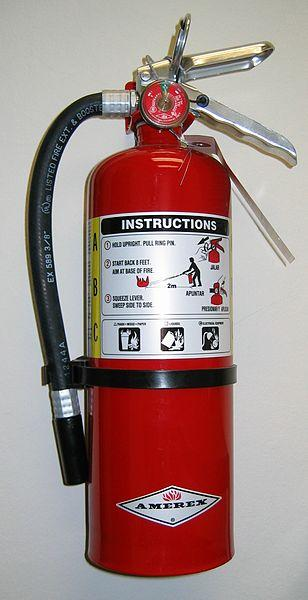 modern fire extinguisher