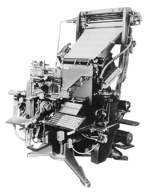 when was the linotype machine invented