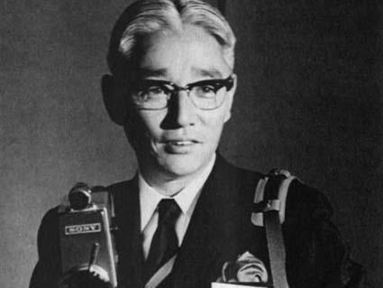 sony walk Man Inventor Akio Morita